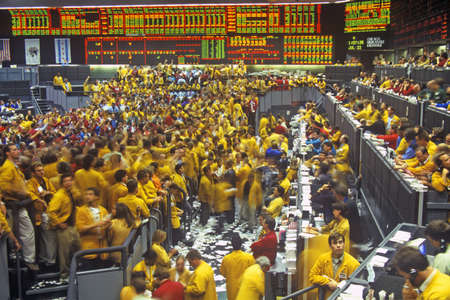 Trading Floor of the Chicago Mercantile Exchange, Chicago, Illinois