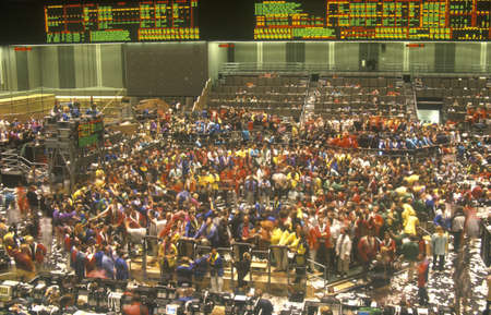 Trading Floor of The Chicago Board of Trade, Chicago, Illinois
