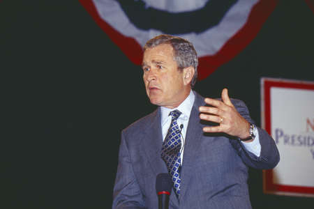 George W. Bush addressing the New Hampshire Presidential Candidates Youth Forum, Manchester, NH January 2000