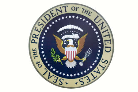 Seal of the President of the United States on display at the Ronald Reagan Presidential Library and Museum, Simi Valley, CA