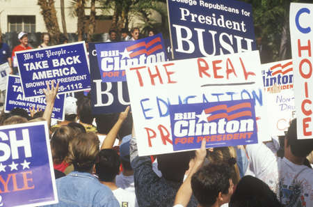 Clinton/Gore campaign rally at UCLA in 1992, Los Angeles, California