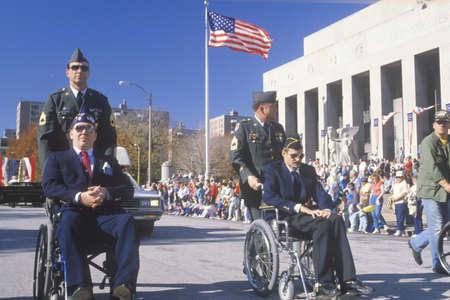 Men in Wheelchairs, Veteran's Day Parade, St. Louis, Missouri