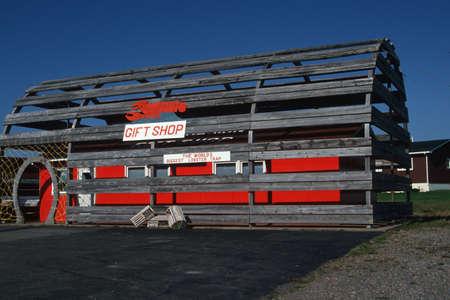 A gift shop inside of a giant lobster trap, Nova Scotia, Canada