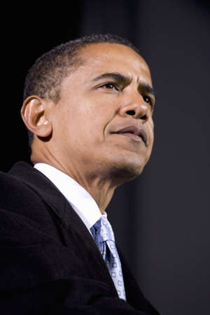 US Senator Barack Obama speaking at Change We Need Presidential rally, October 30, 2008 at Verizon Wireless Virginia Beach Amphitheater in Virginia Beach, VA