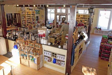 General store interior in the town of Harvard, Massachusetts