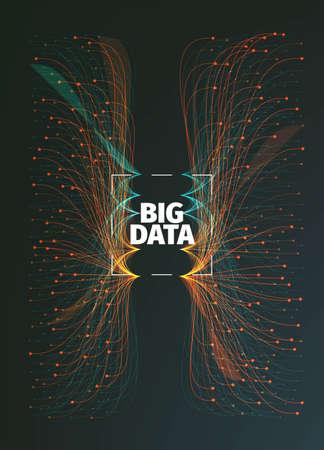 Illustration pour big data background illustration. Data streams. Infographic - image libre de droit