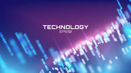 Illustration pour Virtual cyberspace technology background on Futuristic interface - image libre de droit