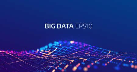 Illustration pour Big data abstract vector background. Bigdata visualization - image libre de droit