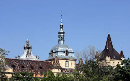 Roofs of castles of Budapest