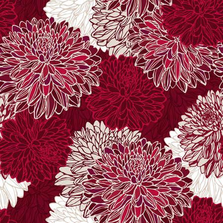 Illustration pour Seamless pattern with decorative flowers - image libre de droit