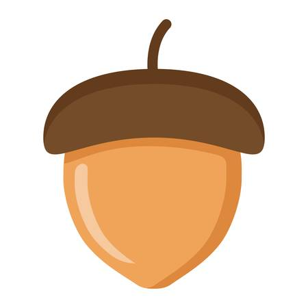Illustration pour Acorn flat icon, nut and food, vector graphics, a colorful solid pattern on a white background, eps 10. - image libre de droit