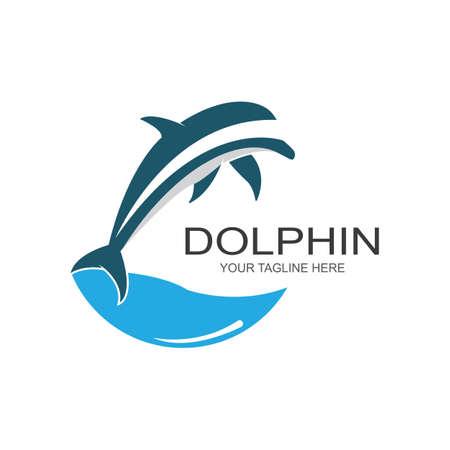 Illustration pour Dolphin logo icon vector template - image libre de droit