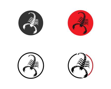 Ilustración de Scorpion icon Template Vector illustration - Imagen libre de derechos