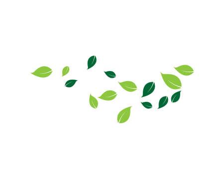 Ilustración de green leaf ecology nature element vector icon - Imagen libre de derechos
