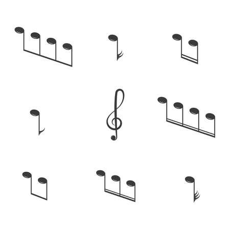 Illustration pour Musical design element,music notes,symbols,vector illustration. - Vector - image libre de droit