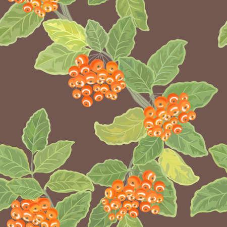 Rowan Leaves And Berries Pattern