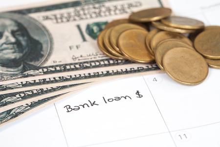 Reminder bank loan in calendar