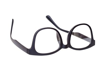 Black Eye Glasses Isolated on White blackground