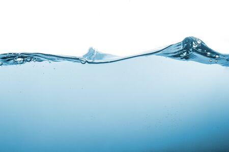Photo pour Water splash or water wave with bubbles of air on the background. - image libre de droit