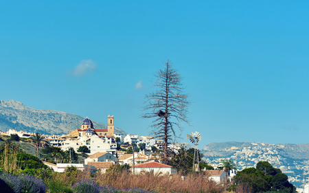 Townscape of Altea, the most beautiful place in the Costa Blanca. Spain