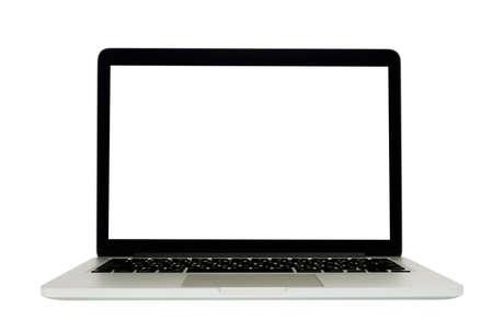 Foto de Isolated of laptop on white background. - Imagen libre de derechos