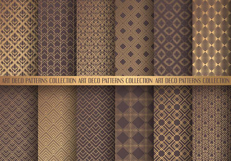 Illustration pour Art geometric different shade of brown pattern design - image libre de droit