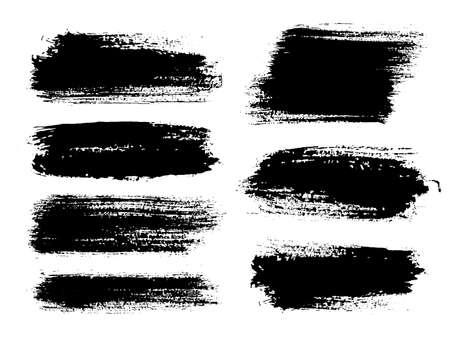 Illustration for Brush strokes. Vector paintbrush set. Grunge design elements. - Royalty Free Image