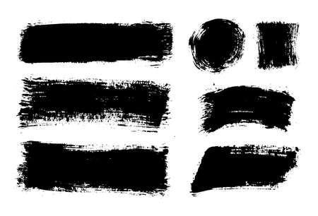 Illustration for Brush strokes. Vector paintbrushes set. Grunge design elements - Royalty Free Image