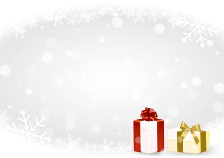 Illustration for Christmas and happy new year white vector background with snowflake - Royalty Free Image