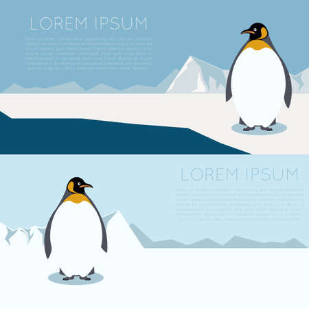 image of a banner with Antarctica and penguins