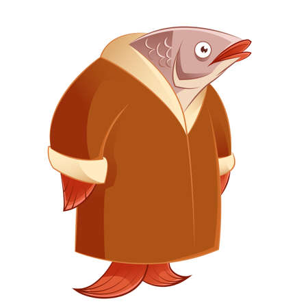 Illustration for Vector image of a Herring in a fur coat - Royalty Free Image