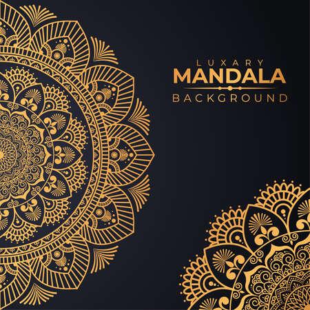Illustration for Luxury mandala background with golden arabesque pattern Arabic Islamic east Style Premium Vector - Royalty Free Image