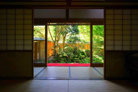 Photo pour The japanese garden at Hosen-in Temple, Kyoto, Japan - image libre de droit