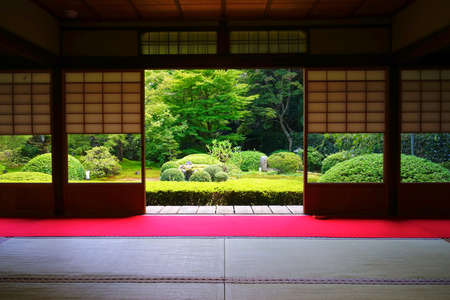 Photo pour Japanese garden at Unryuin Temple, Kyoto City, Kyoto Pref., Japan - image libre de droit