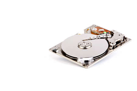 1.8 inch hard disk drive  Isolated on a white background