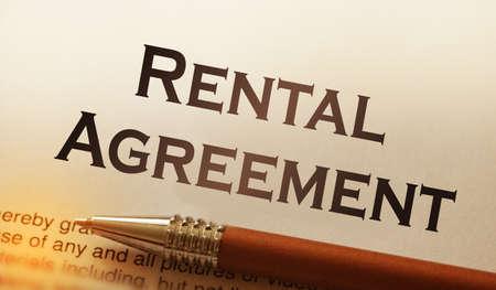 Photo pour rental agreement form on desktop in business office showing real estate concept. - image libre de droit