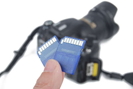 SD card and digital camera