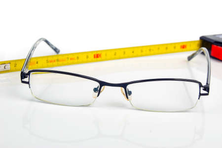 Ruler and glasses