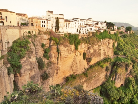 New bridge in Ronda, one of the famous white place in Andalucia, Spain