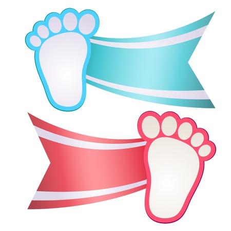 Illustration for Baby Shower Invitation Feet - Royalty Free Image