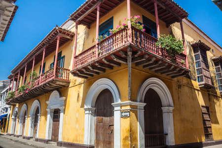 Photo pour Corner of Cartagena de Indias - image libre de droit