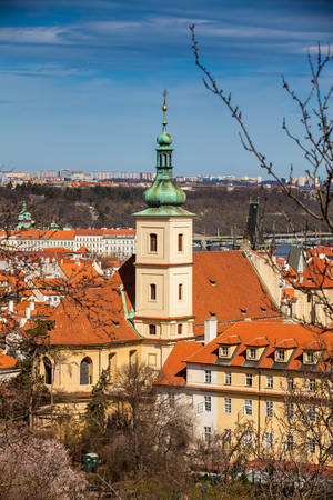 Discalced Carmelite Church of Our Lady Victorious also called Shrine of the Infant Jesus of Prague in Mal? Strana at old town in Prague