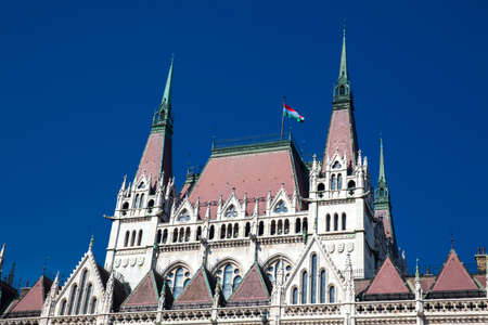 Hungary Parliament building in a beautiful early spring day