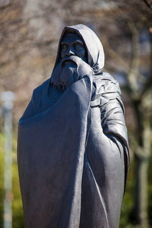 Bodhi Dharma statue at the Garden of Philosophy located at Gellert hill in Budapest