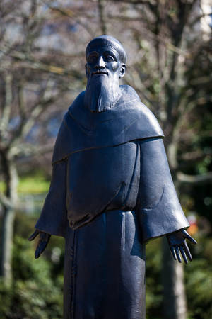 Saint Francis of Assisi statue at the Garden of Philosophy located at Gellert hill in Budapest