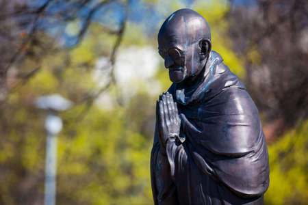 Mahatma Gandhi statue at the Garden of Philosophy located at Gellert hill in Budapest