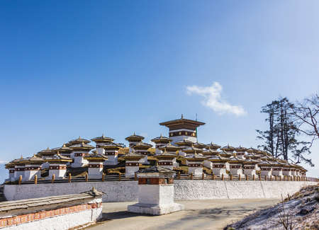 108 chortens  or choertens or stupas  have been erected at Bhutan