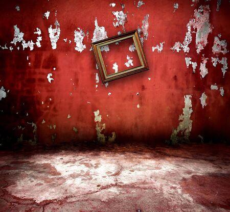 Photo pour vintage room with old frame - image libre de droit