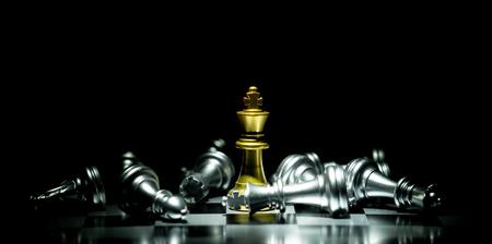 Foto de chess board game concept for competition and strategy - Imagen libre de derechos