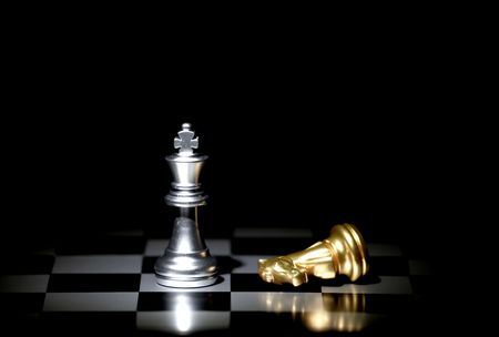Photo pour chess board game concept for competition and strategy - image libre de droit